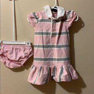 Girls 12 month Ralph Lauren dress & bloomers